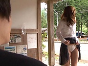 Hot milf ejoys a steamy rear fuck indoors
