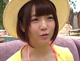 Lusty Asian vixen Sakura Kizuna gets a messy facial picture 11