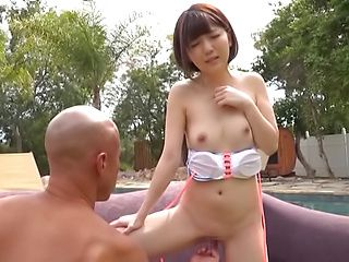 Horny model Sakura Kizuna  with tiny tits drilled hard