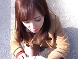 Sakura Miyuki enjoys a wild hardcore drill outdoors picture 13