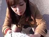 Sakura Miyuki enjoys a wild hardcore drill outdoors picture 15