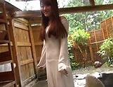 Hot milf brunette babe opens her shaved pussy out