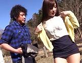 Sexy hot milf Sakura Miyuki in a wild outdoor drill session