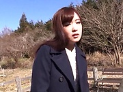 Sexy hot milf Sakura Miyuki in a wild outdoor drill session