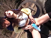 Sakura Miyuki enjoys a wild toy insertion action