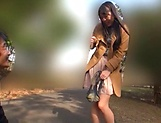 Beautiful Asian love Aoi Rena in a sensual outdoor tease picture 14