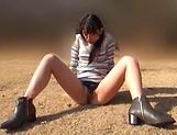 Beautiful Asian love Aoi Rena in a sensual outdoor tease