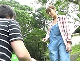 Amazing Asian minx moans and gasps in outdoor porn