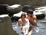 Outdoor romance with a sexy Japanese av model