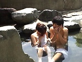 Outdoor romance with a sexy Japanese av model  picture 14