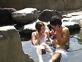 Outdoor romance with a sexy Japanese av model  picture 15