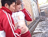 Aine Maria performs a deep throat blowjob picture 12