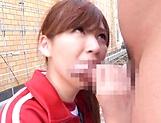 Aine Maria performs a deep throat blowjob