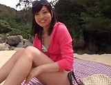 Japanese sexy beauty in kinky outdoor blowjob fun