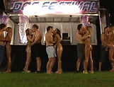 Young Asians fucked hard in serious group action