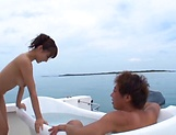 Ayami Shunka enjoys a steamy sensual bath picture 1