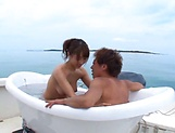 Ayami Shunka enjoys a steamy sensual bath picture 2