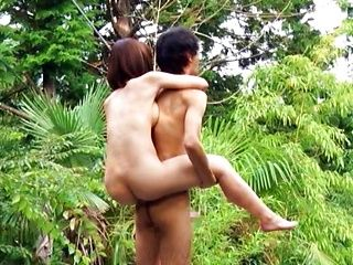 Hot Japanese beauty, outdoor romance in spicy XXX