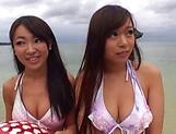 Ravishing curvy cuties in raunchy outdoor fun