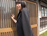 Busty Japanese av model hard fucked in outdoor  picture 15