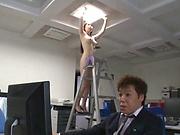 Yuna Ema enjoys a wild caress session