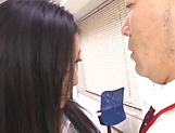 Appealing office honey featuring in steamy sex picture 12