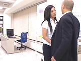 Appealing office honey featuring in steamy sex