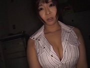 Sexy office lady shows her kinky side