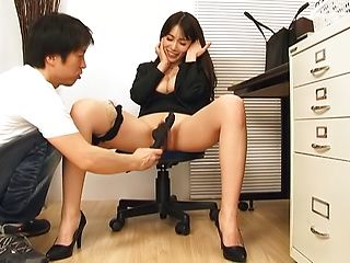 Kamiyama Nana tastes warm cum after nice rear fuck