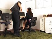Kawana Aki gets a messy cum on ass