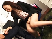 Kawana Aki has her shaved pussy fingered