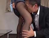 Eri Itou in balck stockings gets a hardcore banging picture 12