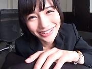 Japanese milf loves the taste of sperm in her mouth