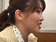 Takaoka Sumire gets her twat licked and fingered