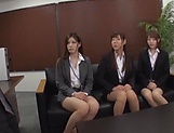 Classy office ladies from Tokyo arrange a nasty gangbang action