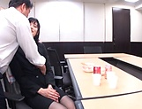 Office babe tries kinky fuck at  work with her boss picture 12