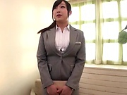 Horny milf is into secret CFNM sessions