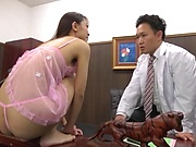 Sensational blowjob and cock riding by Kashii Ria