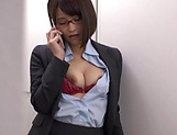 Stunning Ayane Haruna takes a hard pounding in the office picture 14