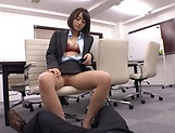 Stunning Ayane Haruna takes a hard pounding in the office