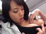 Shibuya Kaho getting screwed in a worthy threesome