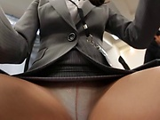 Perky tits office lady fucked in a stand fuck positing