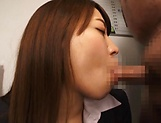 Beautiful vixen Gotou Saki  in amazing blowjob fun picture 13