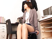 Jolly Shiina Ririko enjoys an erotic masturbation