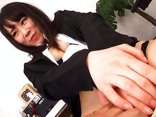 Hot office lady in a sexy costume Kitagawa Yuzu enjoys rough sex