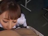 Beautiful Asian babe Ayami Shunka giving head