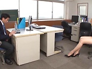 Hardcore lady enjoys office sex with boss