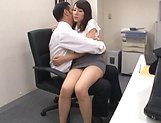 Imai Mayumi gags on an unbending dick