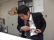 Luscious Yoshida Hana gets pussy toyed by stud in office