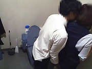 Office lady got fucked in the toilet